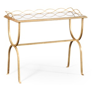 Églomisé & Gilded Iron Drinks Table