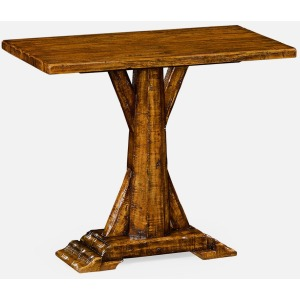 Country Walnut Rectangular Side Table