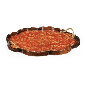 Chinoiserie Tray Red