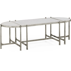 Eglomise Silver Iron Bunching Tables