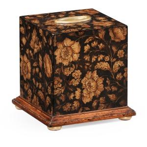 Chinoiserie Tissue Box Black