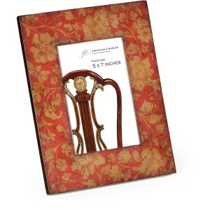 """4""""x6"""" Chinoiserie Picture Frame Red"""