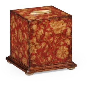 Chinoiserie Tissue Box Red