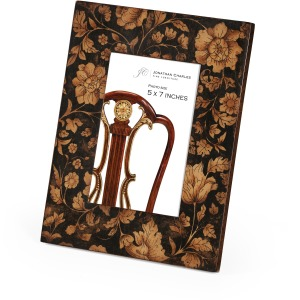 """4""""x6"""" Chinoiserie Picture Frame Black"""