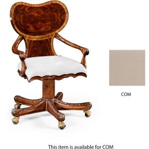 George I Style Adjustable Desk Chair Mahogany