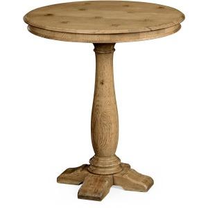 """Round Dark Oak Bar Table 36"""""""