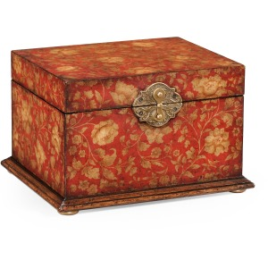 Chinoiserie Lidded Jewellery Box Red