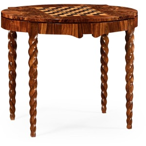 Walnut Barleytwist Game Table