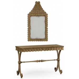 Armadale Washed Oak Console & Arlington Washed Oak Mirror