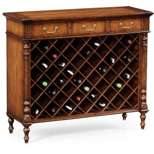 Walnut Free Standing Wine Cabinet