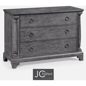 Antique Dark Grey Large Chest Of Drawers
