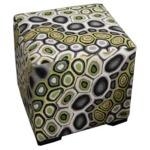 Crosby Leather Cube Ottoman