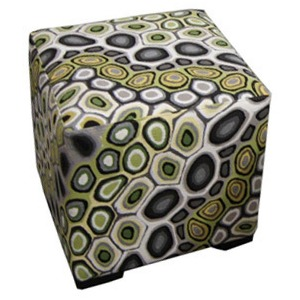 Crosby Leather Cube Ottoman