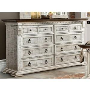 Dresser - Old White w/Western Brown Top