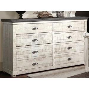 Dresser - Old White w/Iron Gray Top