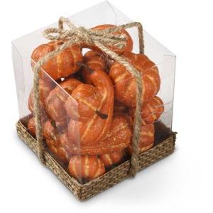 Box of 21 Assorted Sm Orange Gourds and Pumpkins