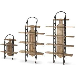 Wood Shelf Sleds - Set of 3