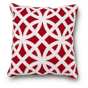 "19"" Square Red & White w/Interlocking Circle Design"