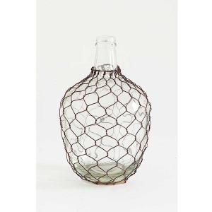 10.25 Glass Genie Style Bottle w/Wire Mesh