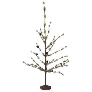 """28"""" Icy Pine Tree w/Mini Pinecones"""