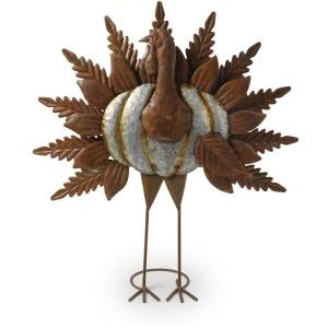 24 Inch Rusty Tin Turkey