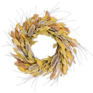 24 Inch Yellow and Orange Eva Leaves w/Thistle Wreath