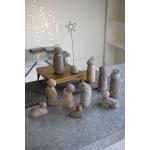 Set Of 12 River Rock Nativity Scene
