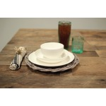 SET OF 3 WHITE CERAMIC DINNERWARE (MIN 4)