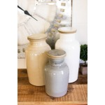 Set of Three Ceramic Canisters