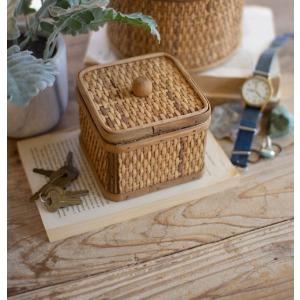 Square Woven Cane Box