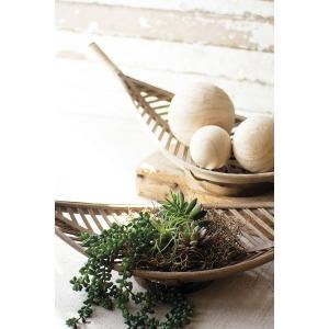 Bamboo Leaf Baskets - Set of 2