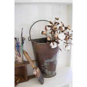 Antique Galvanized Wall Bucket