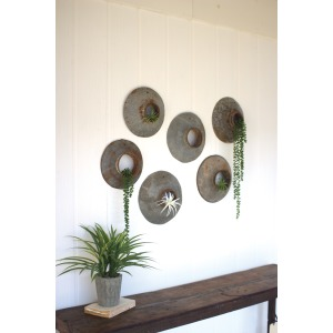 SET OF 6 REPURPOSED METAL WALL HANGINGS