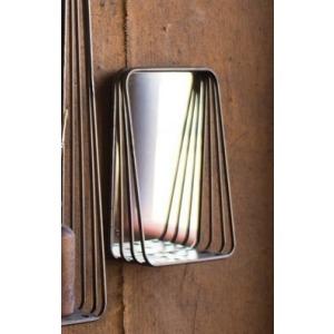 Tall Metal Framed Mirrors w/Shelf - Small