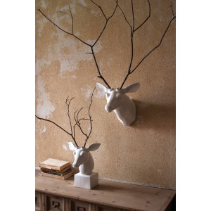 Wall Mount Ceramic Deer Head