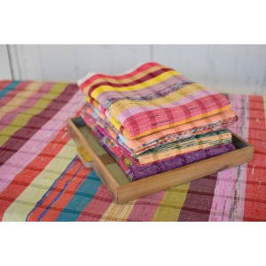 SET OF 6 ASSORTED RECYCLED COTTON RUGS