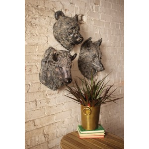 BEAR WALL HANGING - ANTIQUE BLACK