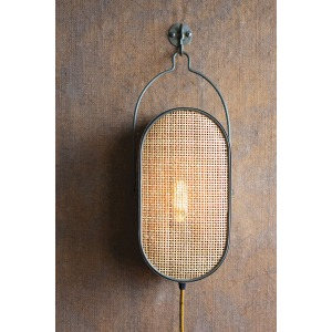 Oval Metal Wall Light