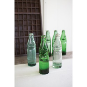 ANTIQUE GLASS SODA BOTTLE