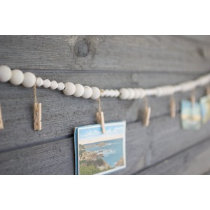 Wooden Garland w/ Clothes Pin
