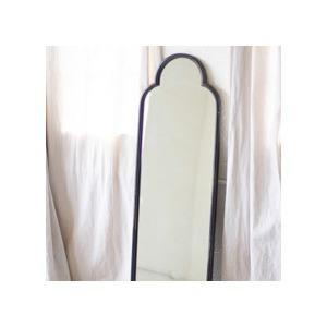 Antique Black Iron Mirror