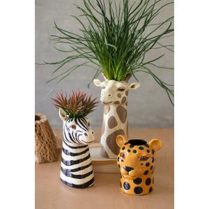 Ceramic Safari Animal Succulent Planters - Set of 3