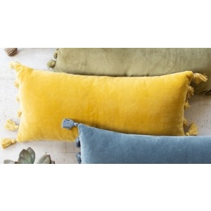 Velvet Lumbar Pillow - Honey