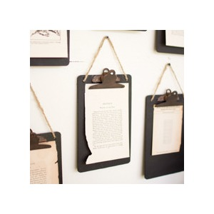 Black Clip Board Holder