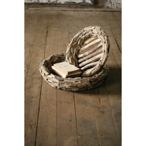 Set of 2 Large Driftwood Bowls