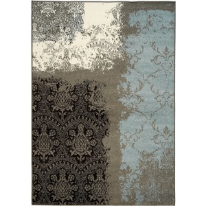 Casa Grey Cream Blue Rug - 6' x 8'