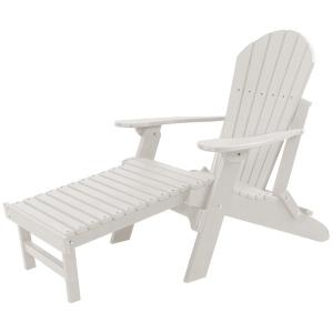 Folding Adirondack Chair W/Pullout Ottoman