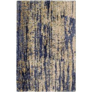 """Cosmopolitan Mineral Bleu Indigo Rug - 2' X 3"""""""