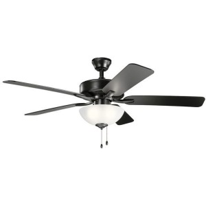 "52"" Basics Pro Select Fan - Satin Black"