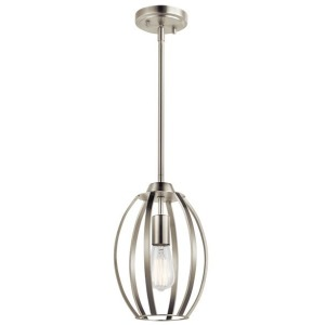 Tao 1 Light Pendant - Brushed Nickel